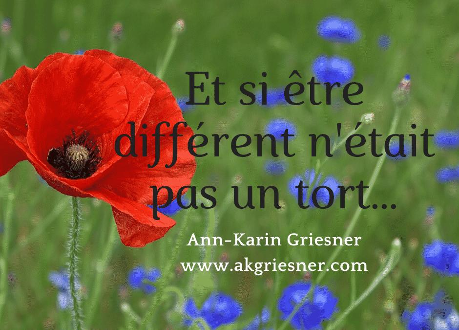 Et si être différent n'était pas un tort …